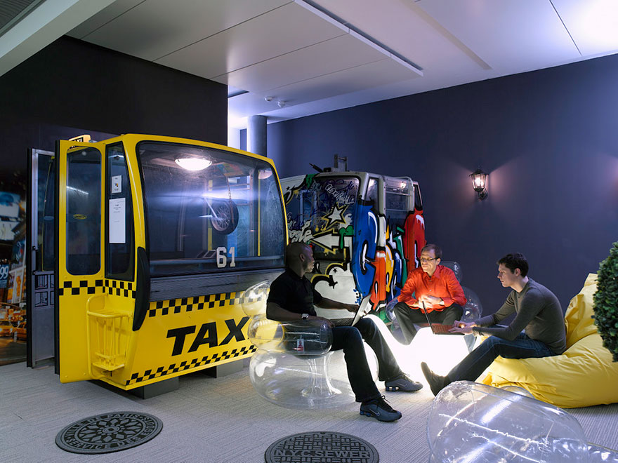 Desain Kantor Paling Keren di Dunia - Desain kantor keren - Kantor Google 11