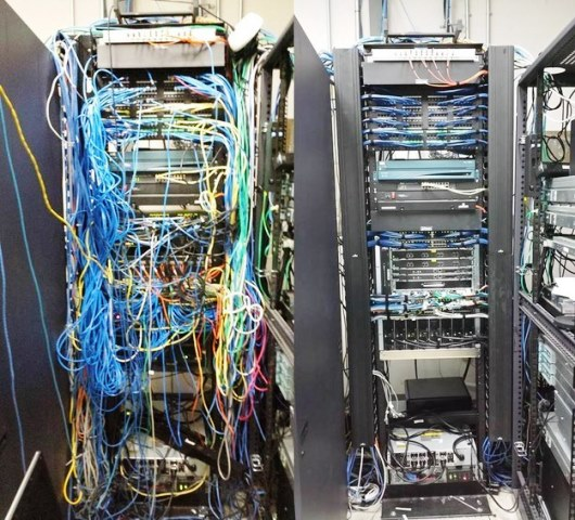 Cabling Organization Paling Rapi di Server Rack Data Center - Best Rack Cabling Management Arrangement Design 03