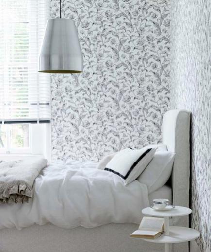 24 Contoh Desain Wallpaper Dinding yang Cantik - Feminine - Best Home Wallpaper Design