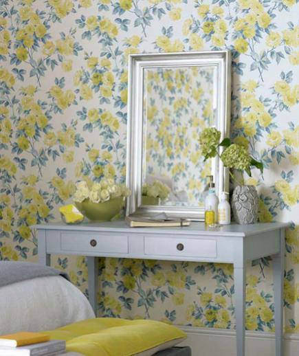 24 Contoh Desain Wallpaper Dinding yang Cantik - Flirty - Best Home Wallpaper Design