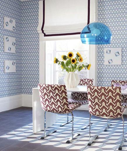 24 Contoh Desain Wallpaper Dinding yang Cantik - Geometric - Best Home Wallpaper Design