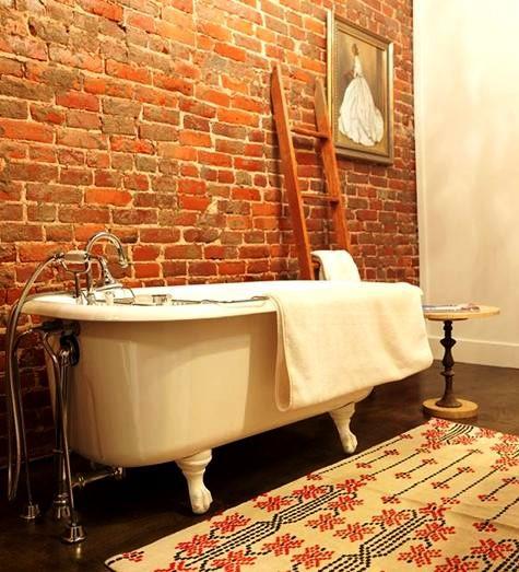 Gambar Batu Bata Desain Interior Modern dan Klasik - Tembok Batu Bata - Interior Desain Kamar Rumah 05