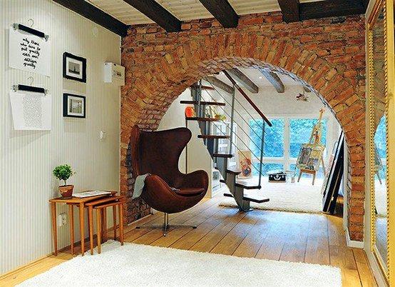 Gambar Batu Bata Desain Interior Modern dan Klasik - Tembok Batu Bata - Interior Desain Kamar Rumah 06
