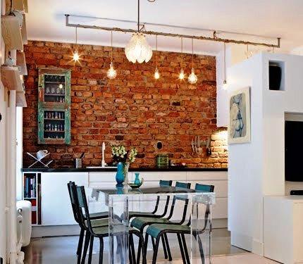 Gambar Batu Bata Desain Interior Modern dan Klasik - Tembok Batu Bata - Interior Desain Kamar Rumah 07