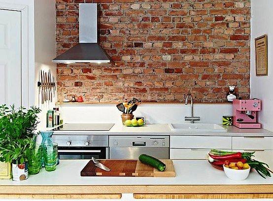 Gambar Batu Bata Desain Interior Modern dan Klasik - Tembok Batu Bata - Interior Desain Kamar Rumah 09