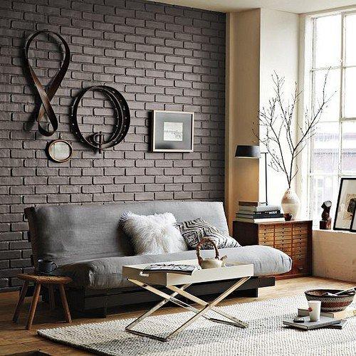Gambar Batu Bata Desain Interior Modern dan Klasik - Tembok Batu Bata - Interior Desain Kamar Rumah 12