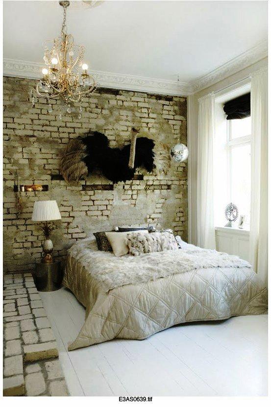 Gambar Batu Bata Desain Interior Modern dan Klasik - Tembok Batu Bata - Interior Desain Kamar Rumah 14