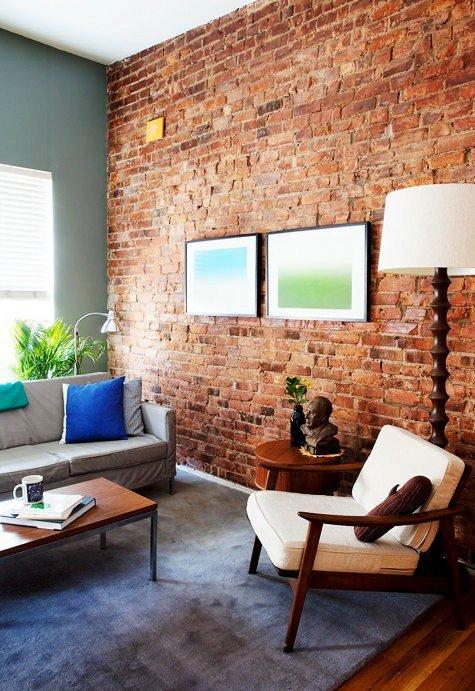 Gambar Batu Bata Desain Interior Modern dan Klasik - Tembok Batu Bata - Interior Desain Kamar Rumah 19
