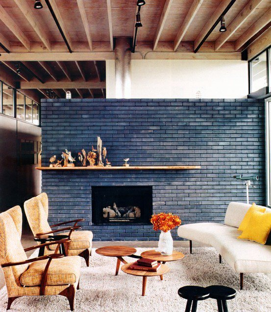 Gambar Batu Bata Desain Interior Modern dan Klasik - Tembok Batu Bata - Interior Desain Kamar Rumah 21