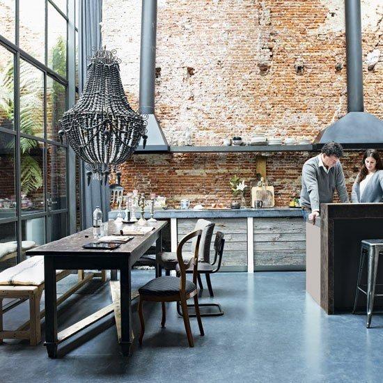 Gambar Batu Bata Desain Interior Modern dan Klasik - Tembok Batu Bata - Interior Desain Kamar Rumah 29