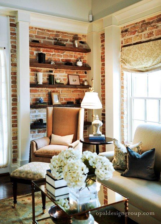 Gambar Batu Bata Desain Interior Modern dan Klasik - Tembok Batu Bata - Interior Desain Kamar Rumah 31