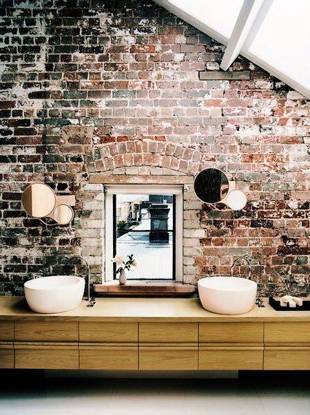 Gambar Batu Bata Desain Interior Modern dan Klasik - Tembok Batu Bata - Interior Desain Kamar Rumah 34