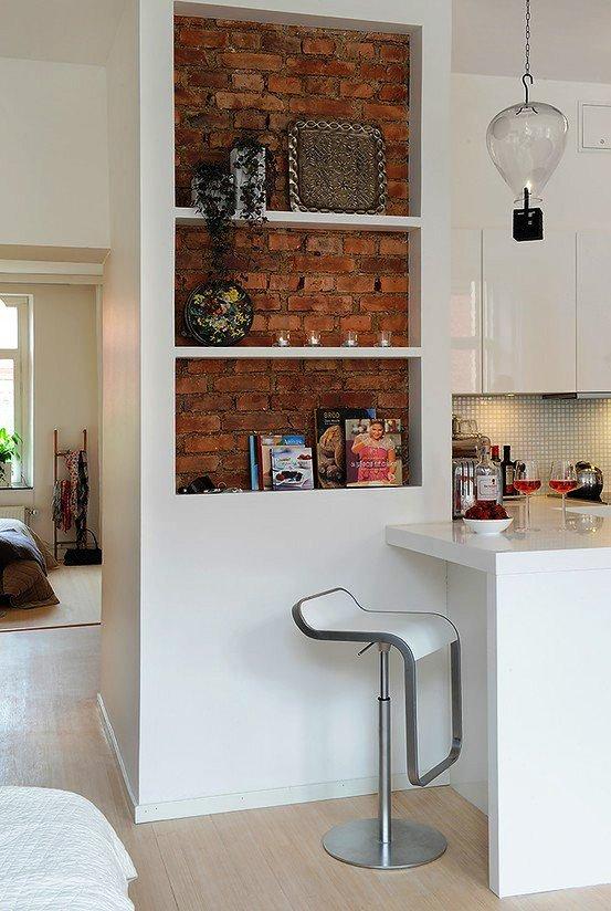Gambar Batu Bata Desain Interior Modern dan Klasik - Tembok Batu Bata - Interior Desain Kamar Rumah 45