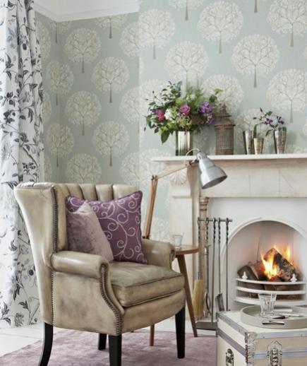 24 Contoh Desain Wallpaper Dinding yang Cantik - Tranquil - Best Home Wallpaper Design
