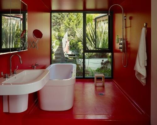 Kontraktor Pelapisan Epoxy Coating Proyek Lantai Gedung - Epoxy Coated Floor modern bathroom 1