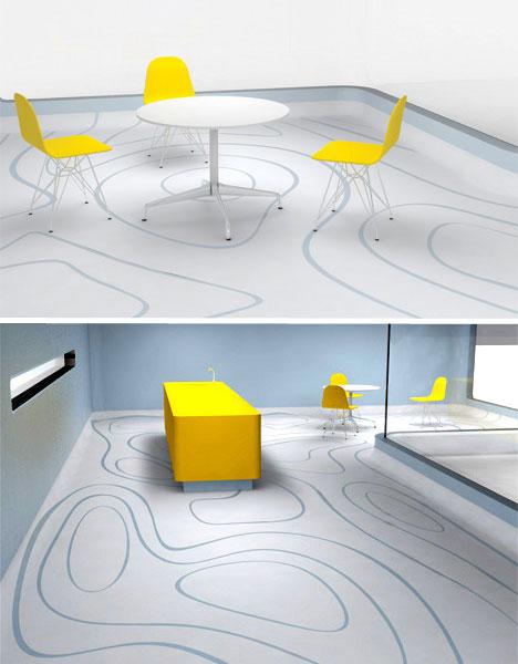 Lantai dengan Desain Kreatif dan Modern