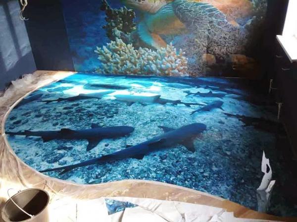 Cara Memasang Gambar Mural 3D dengan Epoxy Lantai Di Rumah Anda