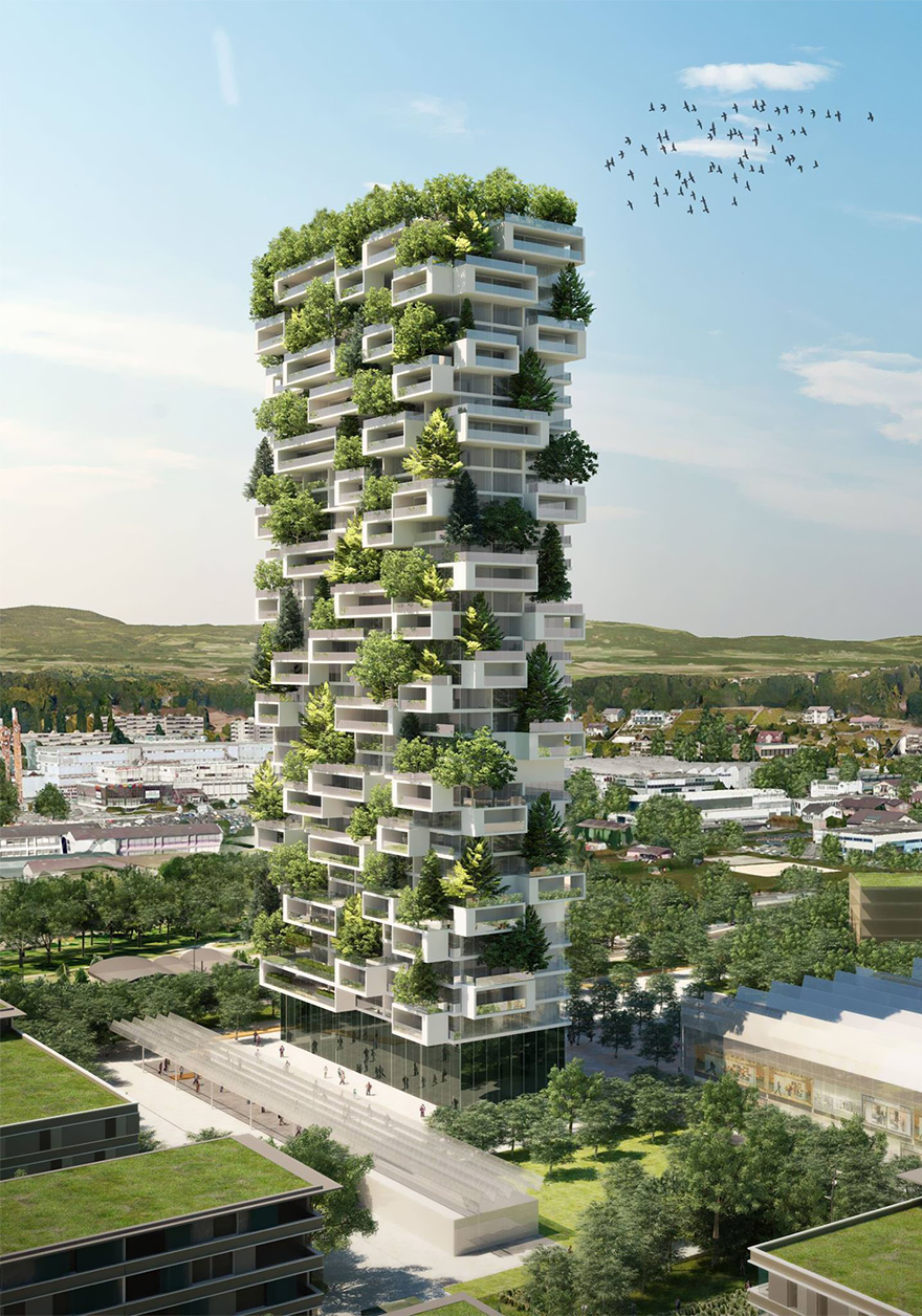 7 Green Apartment Design with Vertical Forest That Has More 18000 Plants