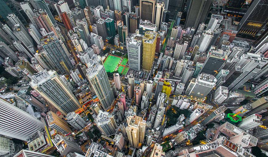 Hong Kong's Dense Skyscrapers