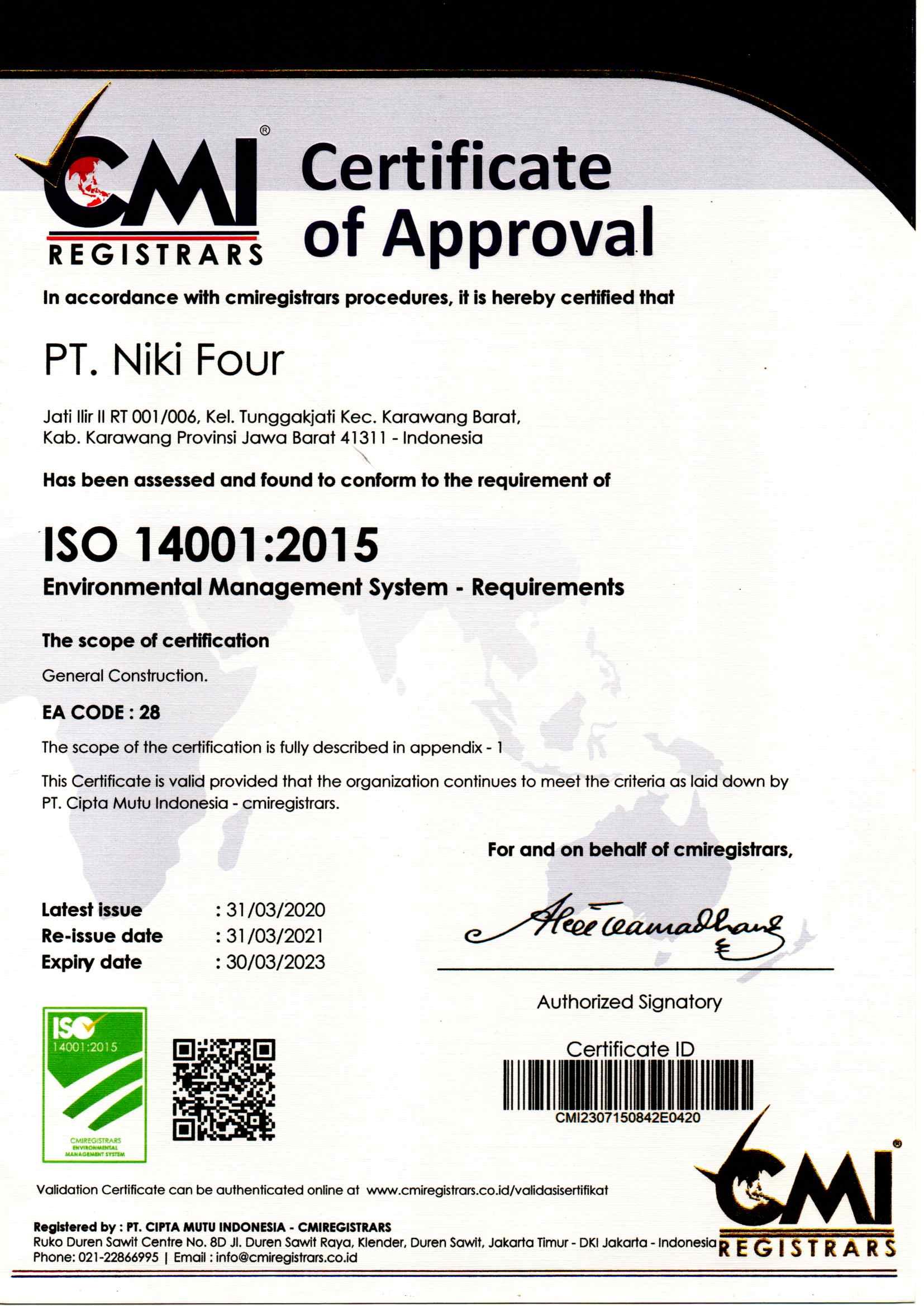 ISO 14001 2015_NIKIFOUR_kontraktorkarawang